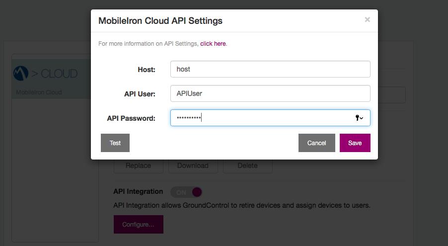 MDM Integration: MobileIron Cloud – GroundControl