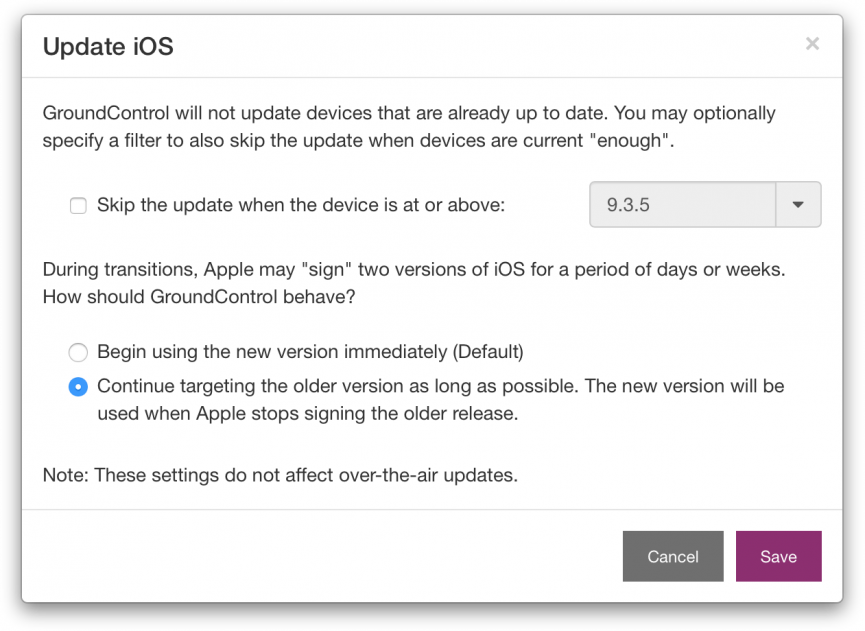iOS Update Delay: FAQ – GroundControl