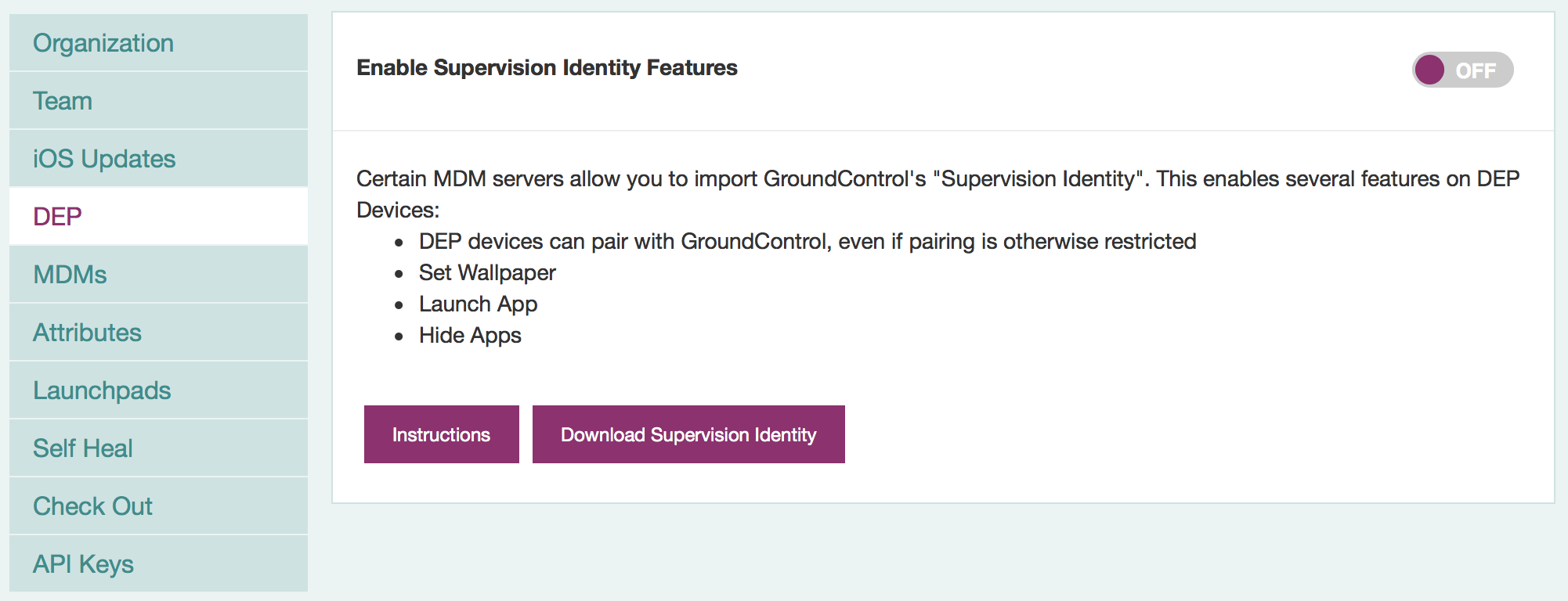 Import your Supervision Identity into a DEP Profile – GroundControl